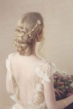 bijou chignon mariage