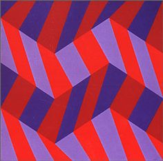 The plasticity of color: Although color is two-dimensional, it is perceived as three-dimensional - Luiz, Sacilotto, Concreção 1992 Art Optical, Optical Illusions, Op Art, Quilt Inspiration, Concrete Art, Arte Popular, Art Moderne, Textile Patterns, Abstract Pattern