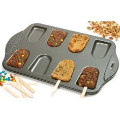 Make some Cookie-pops! Nonstick Cake Pop Pan by Norpro Cookie Pops, Brownie Pops, Cookie Tray, Cookie Cakes, Brownie Cupcakes, Brownie Batter, Baking Cookies, Cookie Desserts, Fun Desserts
