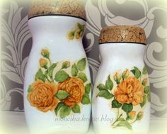 Môj kreatívny svet Shabby Chic Kitchen Accessories, Decoupage Jars, One Stroke Painting, Bottle Art, Decorating Bottles, Techno, Recycling, Painted Bottles, Glass Bottles Diy Bottle, Bottle Art, Bottle Crafts, Bottles And Jars, Glass Bottles, Mason Jars, Painted Bottles, Shabby Chic Kitchen Accessories, Decoupage Jars