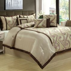 Gramercy 7 Piece Comforter Set $120.00 Bedspreads, Comforters, Beautiful Dream, Beautiful Bedrooms, Fern, Comforter Sets, Bed Sheets, Home Improvement, Homes