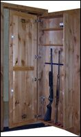 gun storage Gun Storage, Tall Cabinet Storage, Cabinet Doors, Hidden Spaces, Hidden Rooms, Home Projects, Home Improvement Projects, Hidden Passages, Hidden Gun Safe