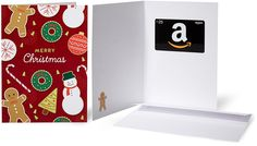 Amazon.com $25 Gift Card in a Greeting Card (Christmas Cookies): Amazon.com: Gift Cards
