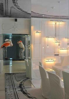 Maison Martin Margiela have completed their first hotel interiors at the Maison Champs Elysées in Paris.