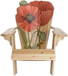Bird Brain B306 Blooming Adirondack Chair, Poppy