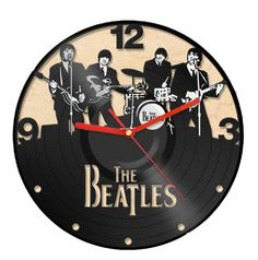 Vinyl Record Recycled Wall Clock -The Beatles Band-- i already have an awesome Beatles clock, but hey!