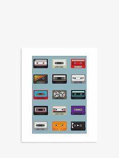 Jeremy Harnell - Mix Tapes Unframed Print, 50 x 40cm, Multi