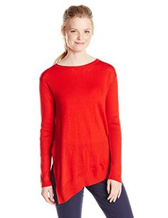 Vince Camuto Women's Long Sleeve Boatneck Sweater with Asymmetrical Hem, Cherry, X-Small Vince Camuto http://www.amazon.com/dp/B00O9Z77B2/ref=cm_sw_r_pi_dp_rkcOub1M7P8YH