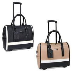 Cabrelli Sofia Classic Womens Rolling Laptop Bag Wheeled Case Carry-on Briefcase #Cabrelli