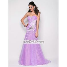 Mermaid Sweetheart Beaded Floor Length Prom Dress PD34945 at belloprom.com