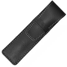 DiLoro Genuine Leather Single Pen Case Holder Black
