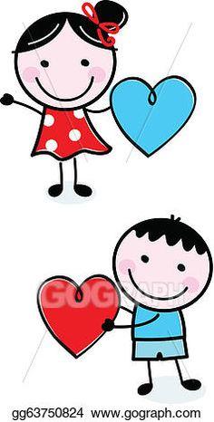 Illustration of happy Kids with Hearts. vektor sanat, klipart ve stok vektör çizimleri. Image drawing for kids Illustration of happy Kids with Hearts. Cartoon Drawings, Easy Drawings, Drawing For Kids, Art For Kids, Stick Figure Drawing, Valentines Day Hearts, Stick Figures, Happy Kids, Rock Art