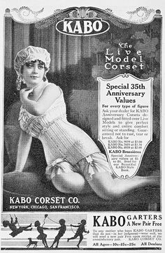 1916 Advertisement for Kabo Corsets - their 35th Anniversary
