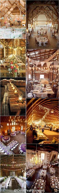 Barn wedding reception table decor ideas / http://www.deerpearlflowers.com/barn-wedding-reception-table-decoration/