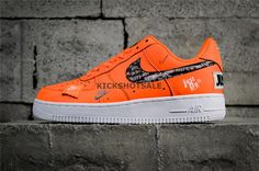 """new styles 6cec5 76bf7 Nike Air Force 1  07 PRM Orange """"Just Do It"""" Collection 905345-80019 - Air  Force - Nike"""