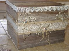 Wedding Card Box wooden rustic wedding reception by primitivearts, $55.00