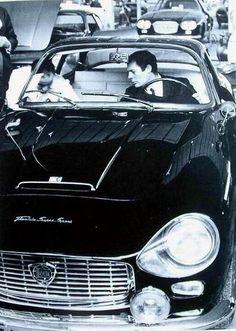 #MarcelloMastroianni and #Lancia Flaminia #Zagato 2800 3C Super Sport -- #BlackTie