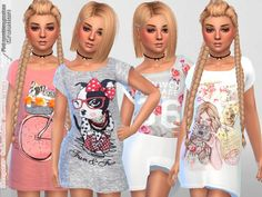 The Sims Resource: Sleepwear Collection Summer Vibes by Pinkzombiecupcakes • Sims 4 Downloads