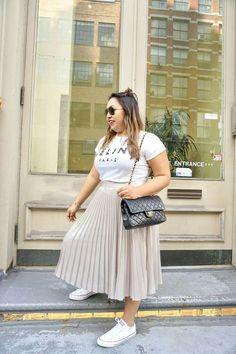 Short Plus size fashion Work Outfits - Plus size fashion For Women Skirts - - - Plus size fashion For Women Casual Fat Fashion, Curvy Girl Fashion, Fashion Outfits, Plus Fashion, Big Size Fashion, Petite Fashion, Fashion Fall, Fashion Ideas, Fashion Tips