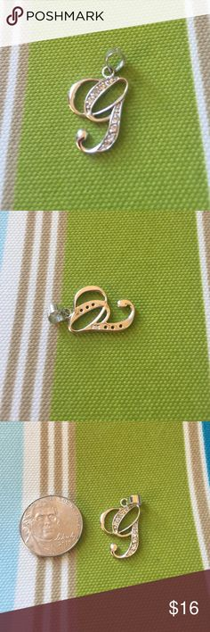 Sterling silver monogram G pendant .925 sterling silver with CZs. It's in great condition. Really cute! Jewelry Necklaces