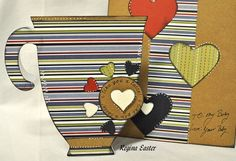 COFFEE CUP SHAPED CARD - bjl