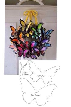 Molde de mariposas Tin Can Crafts, Easy Diy Crafts, Recycled Crafts, Paper Crafts, Spring Art Projects, Spring Crafts, Butterfly Crafts, Butterfly Art, Grave Decorations