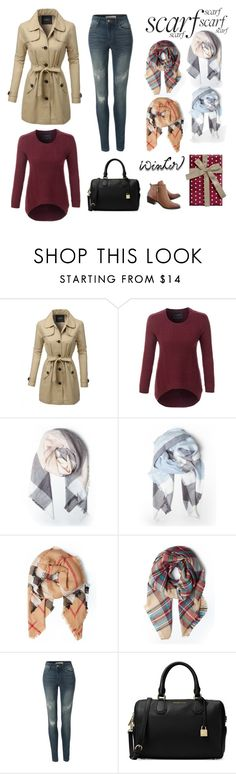 """Oversized Plaid Blanket Scarf"" by le3noclothing ❤ liked on Polyvore featuring LE3NO"