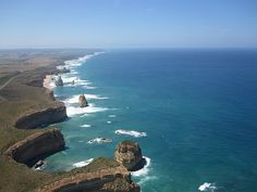 Great Ocean Road - Seen from the sky... I live in Australia why have I not journeyed along the Great Ocean Road yet???? Wishlist