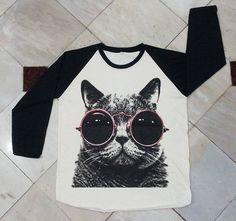 Cat Red Glasses TShirt  Cat TShirt Women Shirt by panoTshirt, $20.00