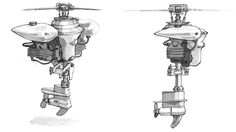 BioShock Art & Pictures,  Flying Machine Concept
