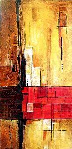 Metro by Mark Yearwood Acrylic ~ 24'' x 12''