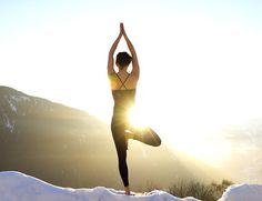 outdoor winter yoga