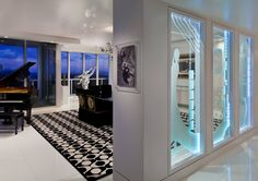 Transitional residence located in Bal Harbor, Florida, designed by Paskoski Construction. Interior Architecture, Interior Design, Interior Ideas, Florida Design, New Home Designs, Man Cave, New Homes, Construction, House Design