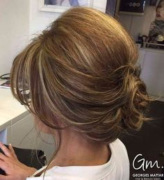 Curly Low Updo For Bob Length Hair