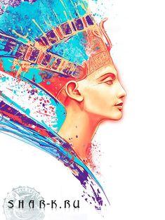 "Nefertiti by ""Kamila Sharipova"" – Drawing Inspiration Egyptian Queen, Egyptian Goddess, Egyptian Beauty, Egyptian Art, Egyptian Things, Airbrush Art, Nefertiti Tattoo, Egypt Tattoo, Ancient Egypt Art"