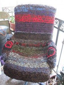 Funda de silla de trapillo