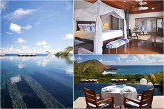Hôtel Le Toiny St Barth. Hôtel et restaurant en bord de mer. Guadeloupe, Saint-Barthélemy. #RelaisChateaux #LuxuryResort #LuxuryHotel #LeToiny