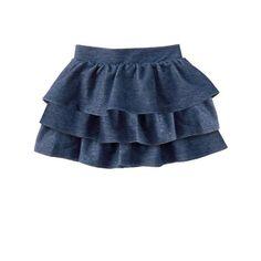 Toddler Girl Toddler Knit Denim Ruffle Skirt by Crazy 8 Jessie, Toddler Skirt, Girl Toddler, Little Baby Girl, Girl Closet, Ruffle Skirt, Ruffles, Cute Baby Clothes, Big Fashion