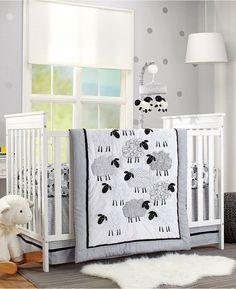 NoJo Good Night Sheep 4 Piece Crib Bedding Set