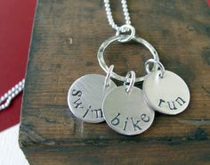 Triathlon Necklace - want WHEN i complete the Aggie Triathlon