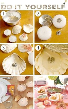 18 DIY Seaside Crafts That'll Bring The Beach Into Your Home - Craft Factory diy home crafts Seashell Crafts, Beach Crafts, Diy Home Crafts, Summer Crafts, Diy Crafts To Sell, Crafts For Kids, Craft Kids, Seashell Jewelry, Homemade Candles