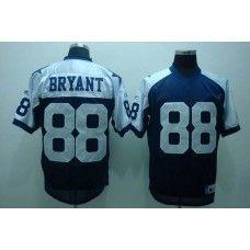c1e4e0eb80a Cowboys #88 Dez Bryant Blue Thanksgiving Stitched Throwback NFL Jersey