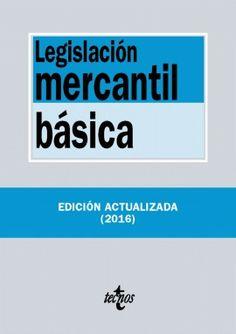 """""""Legislación mercantil básica"""" esta nueva edición es un útil instrumento de trabajo para profesores y alumnos de las Licenciaturas y Diplomaturas donde se estudia esta materia del Derecho Mercantil."""