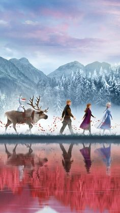 Frozen 2 continues Frozen which was released six years ago and won 2 Oscars for the Best Animated Film and Best Theme Song. Frozen 2 is still overshad. Frozen Disney, Disney Pixar, Disney E Dreamworks, Frozen Movie, Disney Cartoons, Disney Movies, Frozen Frozen, Frozen Party, Punk Disney