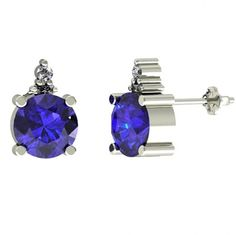 .44ctw Round Tanzanite Earring With .28ctw Diamonds in 14k White Gold available just for $277.99.