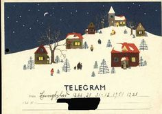 I would almost give up email if all telegrams were this adorable ... 1951-60 Nielson-Hirdman, Vivi