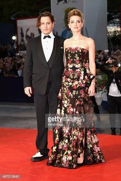 Johnny Depp and wife actress Amber Heard attend a premiere for her new movie 'The Danish Girl' during the 72nd Venice Film Festival on September 5, 2015 in Venice, Italy. CREDIT: VENTURELLI