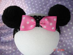 Minnie Mouse Ears Headband with Two Bows  for by DoodlesANDesigns, $9.99
