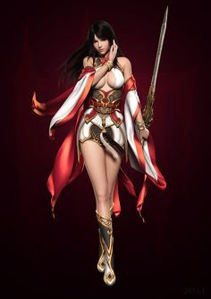 do you know who made this work? 3d Fantasy, Fantasy Warrior, Fantasy Women, Anime Fantasy, Fantasy Images, Fantasy Girl, 3d Character, Character Design References, Character Concept