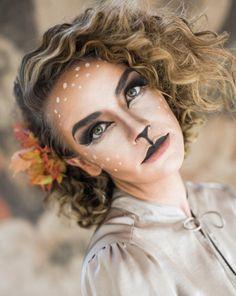 Woodland deer halloween makeup